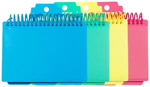 C line Spiral Bound Index Cards With Tabs 3 X 5 Inches Colors Vary