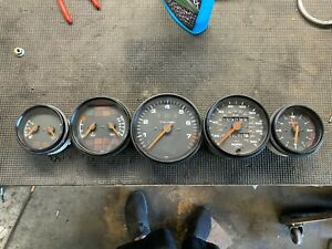 Porsche 911 993 Carrera Manual Instrument Gauge Cluster Set Speedo Tach Etc