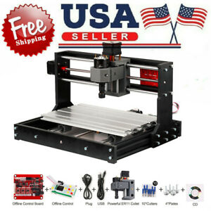 Cnc 3018 Pro Diy Router Mini Engraving Machine Kit Grbl Offline Control I6i7