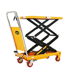 Apollolift Hydraulic Lift Table Cart Double Scissor 51 2 Lifting Height 770lbs