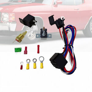 200 Degree Electric Engine Cooling Fan Thermostat Switch Relay Accessories Kit