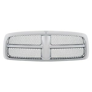 New Chrome Grille For 2002 2005 Dodge Ram Ch1200268 Ships Today
