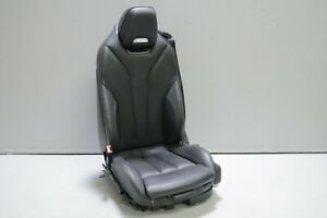 2015 2020 Bmw M4 F83 Convertible Front Left Driver Seat Black Leather Oem