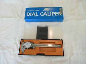 Fowler Nsk 52 008 006 Dial Caliper 0 6 001 Made In Japan With Case