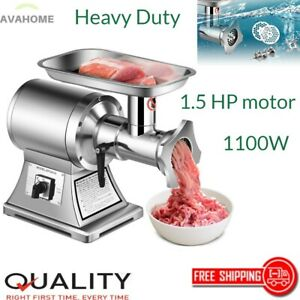 Heavy Duty Electric Meat Grinder Pusher Industrial Stainless Steel Commercial