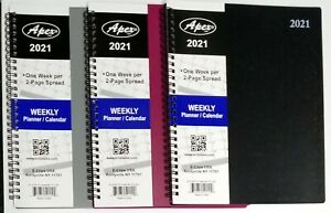 2021 Weekly monthly Spiral Bound Planner With Durable Vinyl Cover 8 In X 10 In