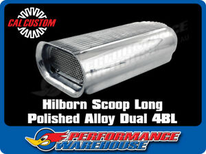 Cal Custom Polished Aluminium Hilborn Air Scoop Suits Dual 4 Bbl