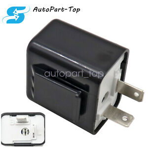 Adjustable Led Flasher Relay Turn Signal Blinker Light 2pin For Motorcycle 1pc