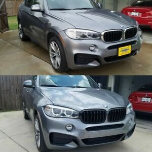For 2014 2018 Bmw F15 X5 Piano Black Front Hood Bumper Kidney Grille Grill