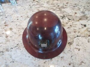 Vintage Msa Hard Hat Skullgard Mine Safety Cap Usa Full Brim Safety Helmet