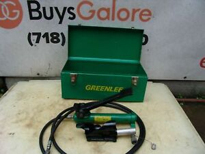 Greenlee 800 Cable Bender With Foot Pump 250 1000 Kcmil Capacity Works Great 1