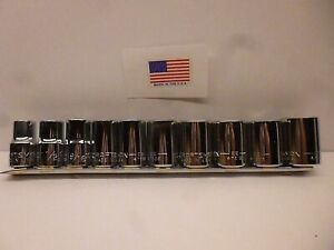 Craftsman 10pc 1 2 Drive 12pt Standard Socket Set Made In The Usa