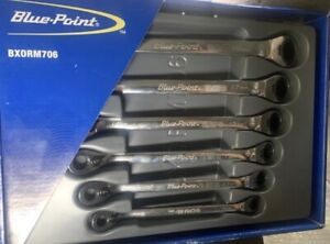 Blue point By Snap on Bxorm706 Reversible Ratcheting Box end Wrench Set 8 19 Mm