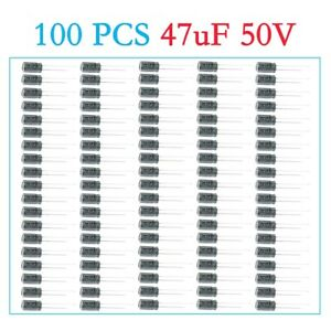 100pcs 47uf 50v Rubycon Radial Electrolytic Capacitors Us