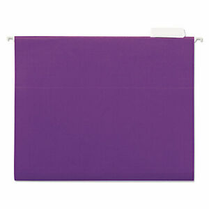 Universal Hanging File Folders 1 5 Tab 11 Point Stock Letter Violet 25 box 14120