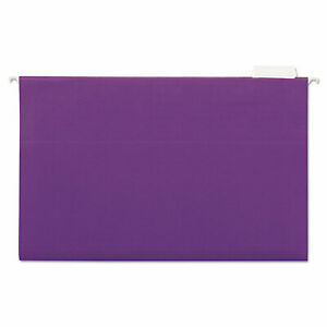 Universal Hanging File Folders 1 5 Tab 11 Point Stock Legal Violet 25 box 14220
