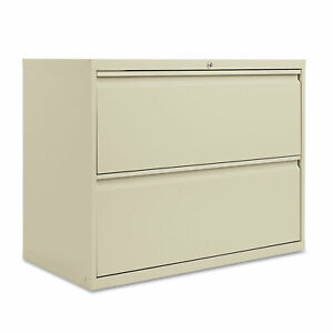 Alera Two drawer Lateral File Cabinet 36w X 19 1 4d X 28 3 8h Putty Lf3629py