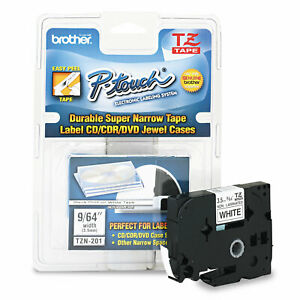 Brother P touch Tz Super narrow Non laminated Tape For P touch Labeler 1 8w