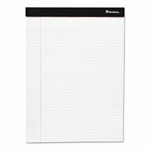 Universal Premium Ruled Writing Pads White 5 X 8 Legal Rule 50 Sheets 12 Pads