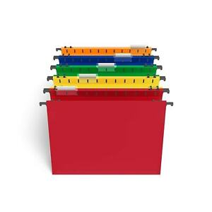 Staples Poly Expanding Hanging File Folders Letter Size Assorted 5 pk 706811
