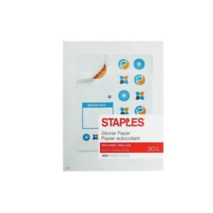 Staples Sticker Paper 70972 490429