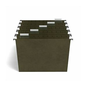 Staples Hanging File Folders 5 tab Letter Size Standard Green 25 bx 116764