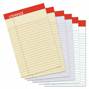 Universal Fashion Colored Perforated Ruled Writing Pads Narrow 5 X 8 50 Sheets