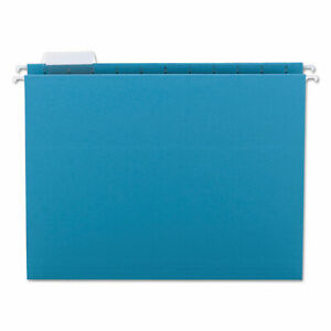 Smead Hanging File Folders 1 5 Tab 11 Point Stock Letter Teal 25 box 64074