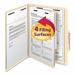 Smead Manila Classification Folders With 2 5 Right Tab Letter Four section 10