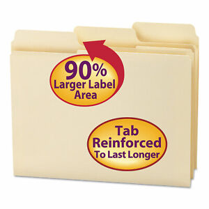 Smead Supertab Guide Height Reinforced Folders Top Tab Letter Manila 100 box
