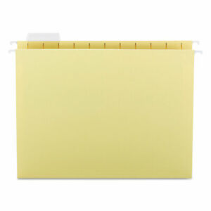 Smead Hanging File Folders 1 5 Tab 11 Point Stock Letter Yellow 25 box 64069