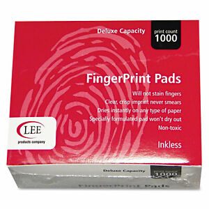 Lee Inkless Fingerprint Pad 2 1 4 X 1 3 4 Black Dozen 03127