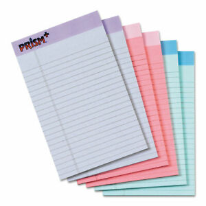Tops Prism Plus Colored Legal Pads 5 X 8 Pastels 50 Sheets 6 Pads pack 63016