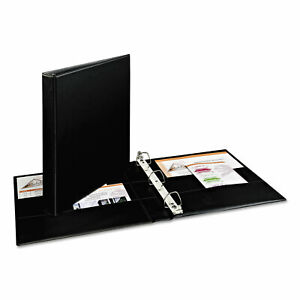 Avery Durable Binder With Two Booster Ezd Rings 11 X 8 1 2 1 Black 07301