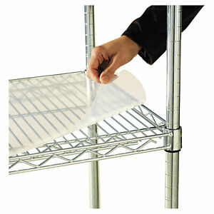 Alera Shelf Liners For Wire Shelving Clear Plastic 36w X 24d 4 pack