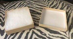 Jewelry Boxes 3 1 2 X 3 1 2 X 1 natural Color cotton Filled 16 Total
