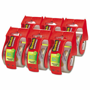 Scotch Sure Start Packaging Tape 1 88 X 800 1 1 2 Core Clear 6 pack 1456