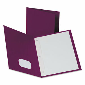 Oxford Twin pocket Folders With 3 Fasteners Letter 1 2 Capacity Burgundy 25 box