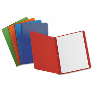 Oxford Report Cover 3 Fasteners Panel And Border Cover Assorted Colors 25 box
