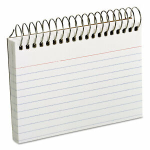 Oxford Spiral Index Cards 3 X 5 50 Cards White 40282