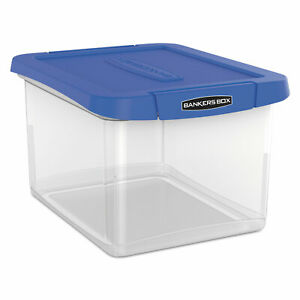 Bankers Box Heavy Duty Plastic File Storage 14 1 4 X 8 3 5x 11 Clear 0086301