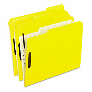 Pendaflex Colored Folders With Embossed Fasteners 1 3 Cut Letter Yellow 50 box
