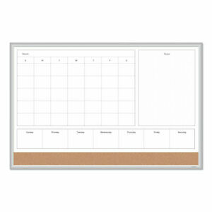 U Brands 4n1 Magnetic Dry Erase Combo Board 36 X 24 White natural 3891u0001