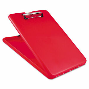 Saunders Slimmate Storage Clipboard 1 2 Clip Cap 8 1 2 X 11 Sheets Red 00560