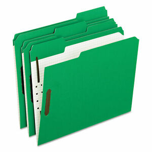 Pendaflex Colored Folders With Embossed Fasteners 1 3 Cut Letter Green grid