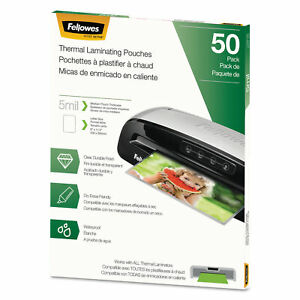 Fellowes Thermal Laminating Pouches Letter 5 Mil 50 pack 5744501
