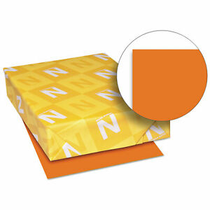 Neenah Paper Exact Brights Paper 8 1 2 X 11 Bright Tangerine 50 Lb 500 Sheets