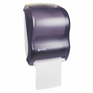 San Jamar Electronic Touchless Roll Towel Dispenser 11 3 4 X 9 X 15 1 2 Black