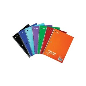 Staples 1 subject Notebook 8 X 10 5 College Ruled 70 Sh Assorted 1485056