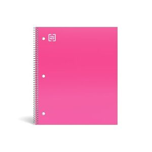 Staples Durable Poly Cover 1 Subject Notebook College Ruled 8 1 2 X 11 Pink